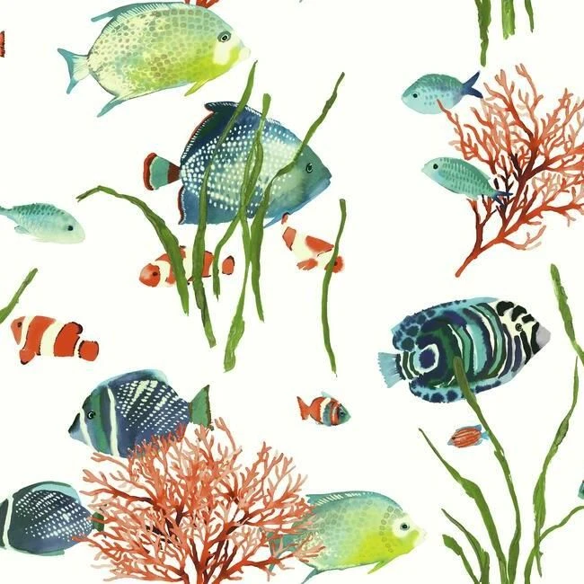 Tropical Reef Peel Stick Wallpaper By York Wallcoverings In 2020 Wildlife Wallpaper Fish Wallpaper York Wallpaper