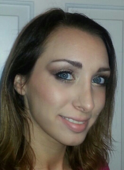Photo of Gold & Bronze eyeshadow look using Too Faced Romantic Eye palette,  Too Faced By…,  #Bronze…
