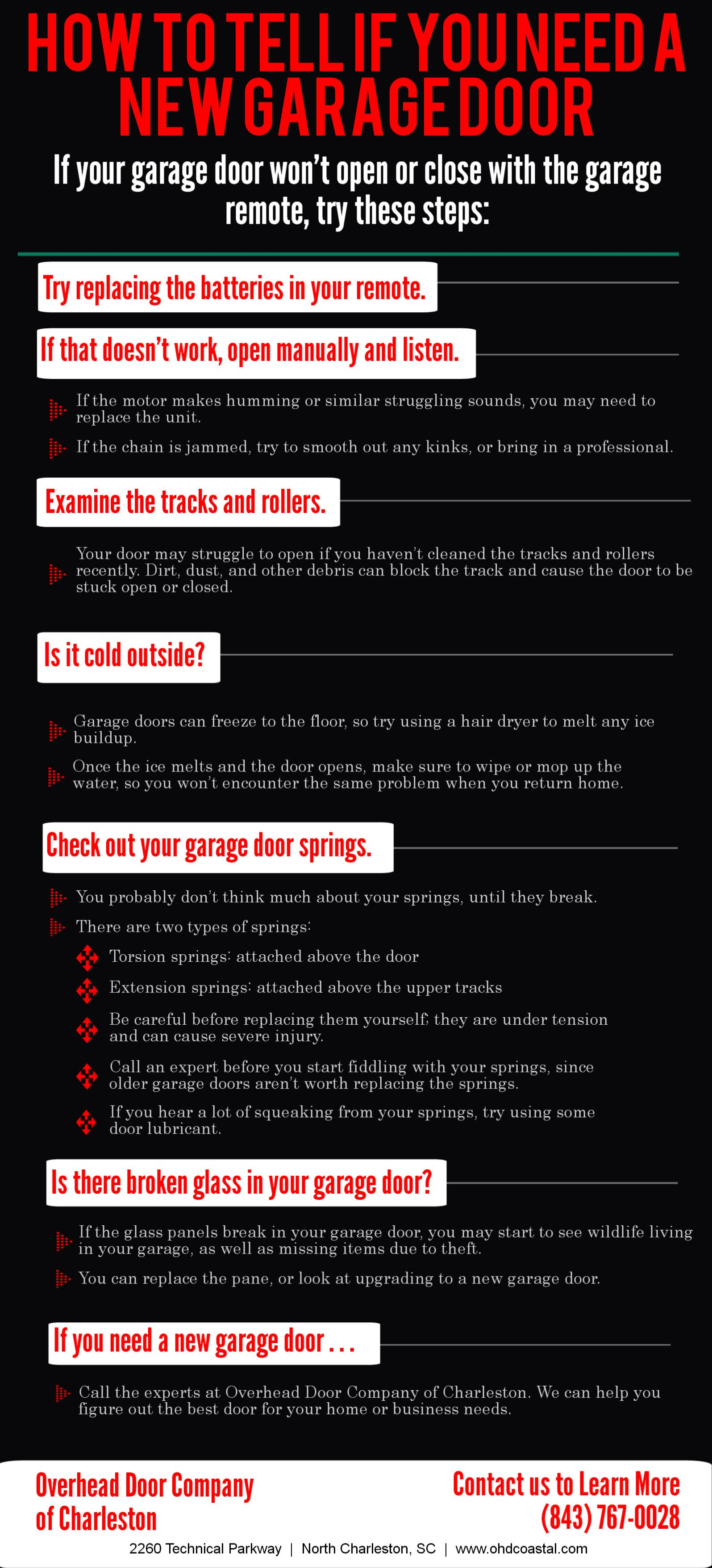 How To Tell If You Need A New Garage Door Infographic Httpwww