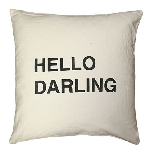 Hello Darling Pillow by Sugarboo Pillows and Products
