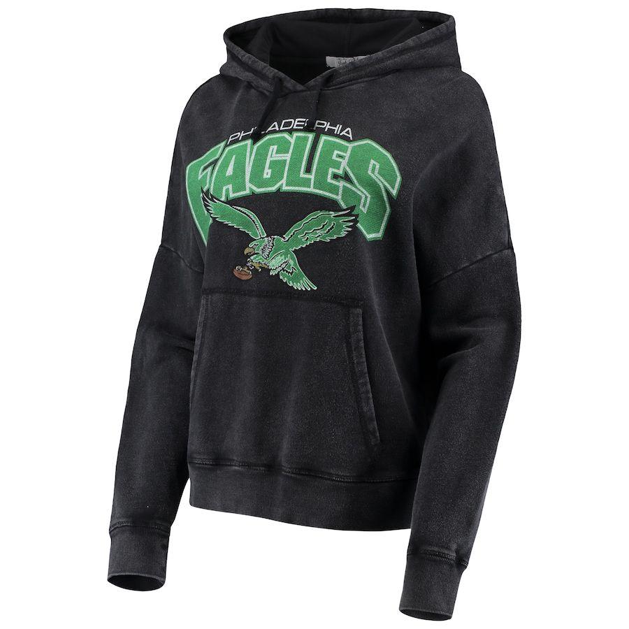 Philadelphia Eagles Junk Food Women S Fullback Fleece Pullover Hoodie Black In 2020 Fleece Pullover Hoodies Black Hoodie [ 900 x 900 Pixel ]