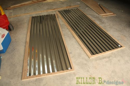 Diy Farm Style Corrugated Tin Closet Doors With Purebond