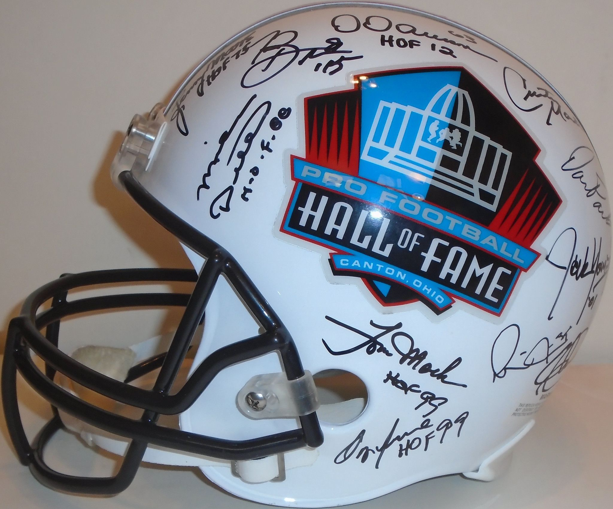 8a1d783e73c Pro Football Hall of Fame Multi Autographed signed HOF Riddell full size football  helmet w  proof photo. Proof photos of the HOFers signing will be included  ...