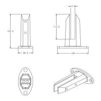 2205 Glass Spigot For Frameless Glass Railing Demax Arch Glass Railing Glass Balcony Railing Glass Balcony