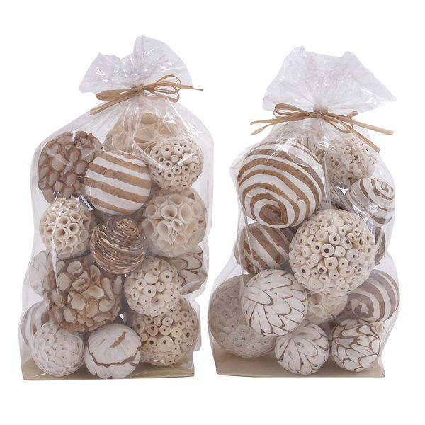 82295fd61308b2 You ll love the 2 Piece Decorative Natural Dried Flower Ball Bag Set at  Wayfair - Great Deals on all Décor   Pillows products with Free Shipping on  most ...