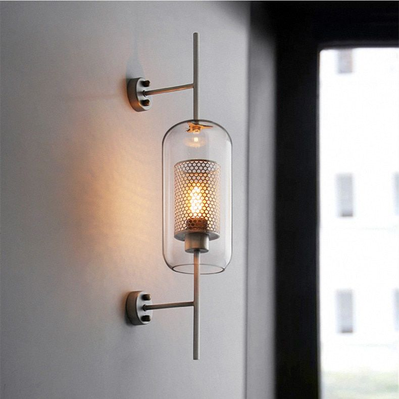 Industrial Style Retro Wall Light Vintage Creative Concise Glass Light Kitchen Restaurant Loft Led Wall Led Wall Lights Wall Sconce Lighting Wall Lamps Bedroom