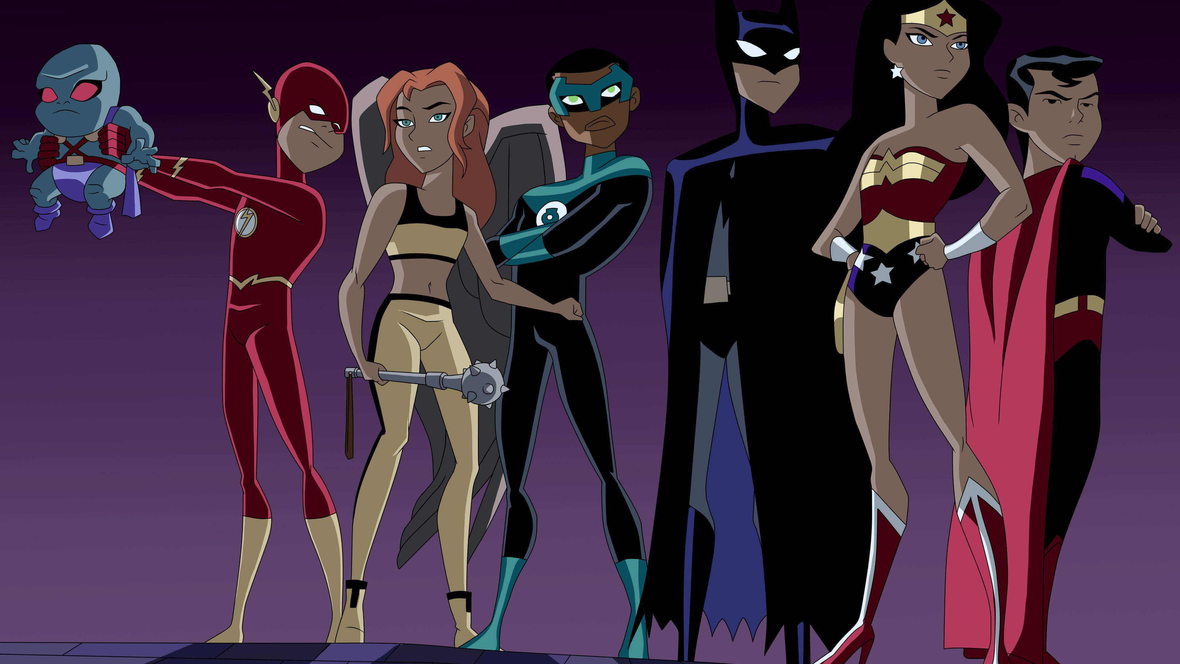 Junior League 4k Wallpaper Wonder Woman Wallpapers Superman Wallpapers Superheroes Wallpapers Justice L Justice League Justice League Animated Junior League
