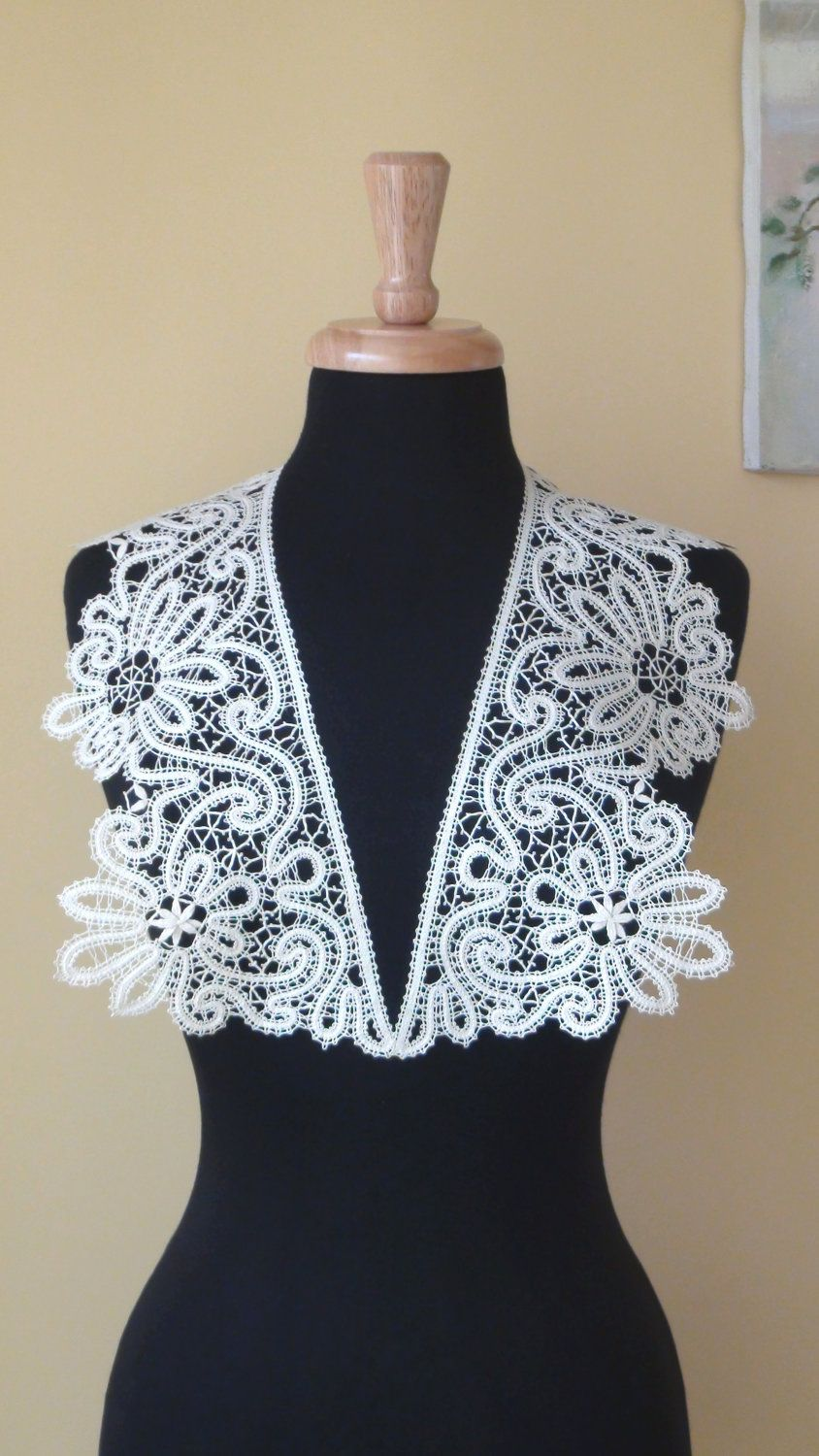 Bobbin Lace Collar by HandyMaria on Etsy | коклюшечное кружево ...