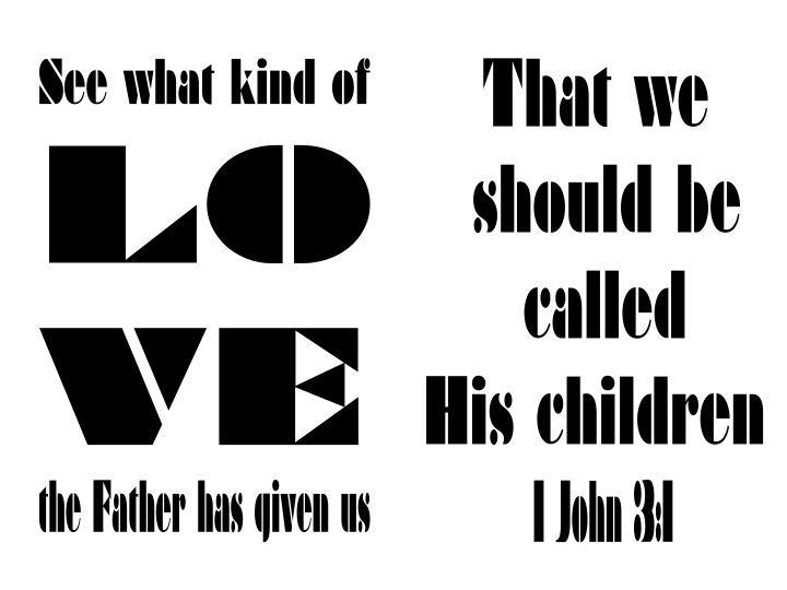 1 John 3:1♡