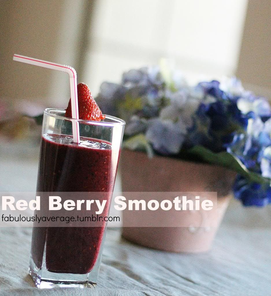 Fabulously Average, Red Berry Smoothie