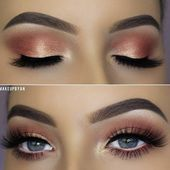Photo of 54 Beste ideer om sminke for blå øyne Peach Soft Smokey Eyes Makeup Idea # peach …