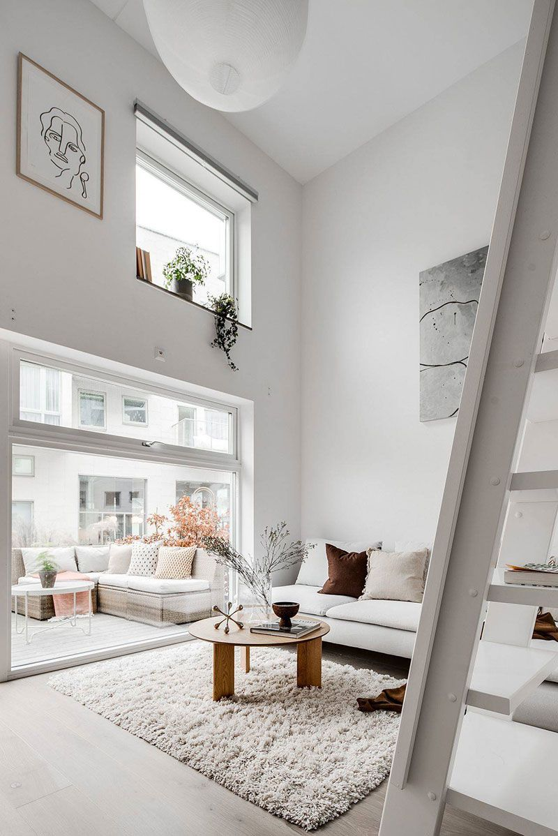 Small ground floor apartment, but with front garden and mezzanine