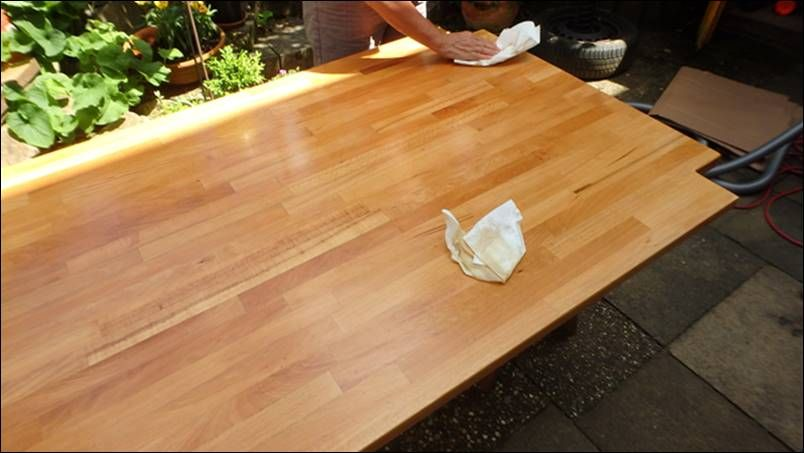 Tisch Möbel neu aufbereiten Richtig Streichen ouml dem gr