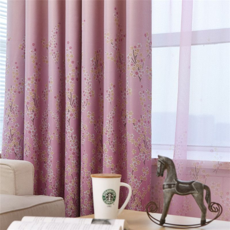 living room d cor Modern pastoral Lavender high shade printing curtains for  room living European. living room d cor Modern pastoral Lavender high shade printing