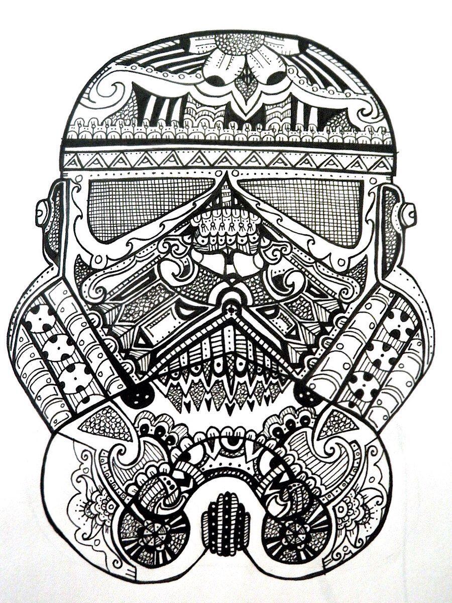 Sugar skull storm trooper Star wars drawings, Star wars