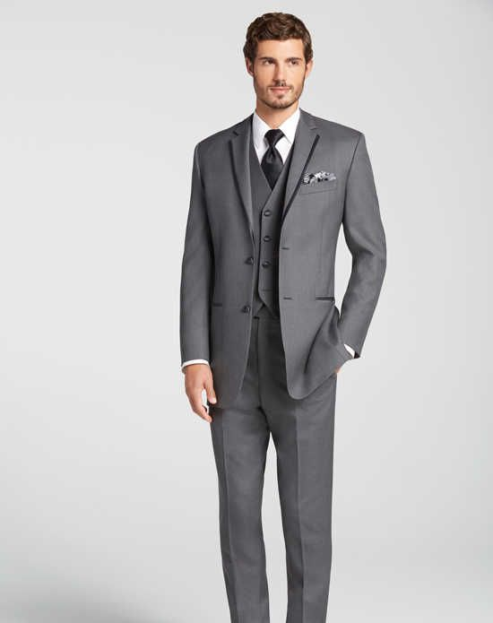 Mens Wearhouse BLACK By Vera WangR Gray Tuxedo Wedding Tuxedos Suit Photo