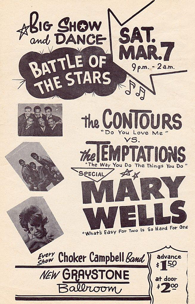 Classic 1960s Motown Concert Poster Vintage Concert Posters R B And Soul Concert Posters