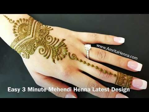 Easy Mehndi Ideas : Easiest mehendi design for beginners youtube easy simple