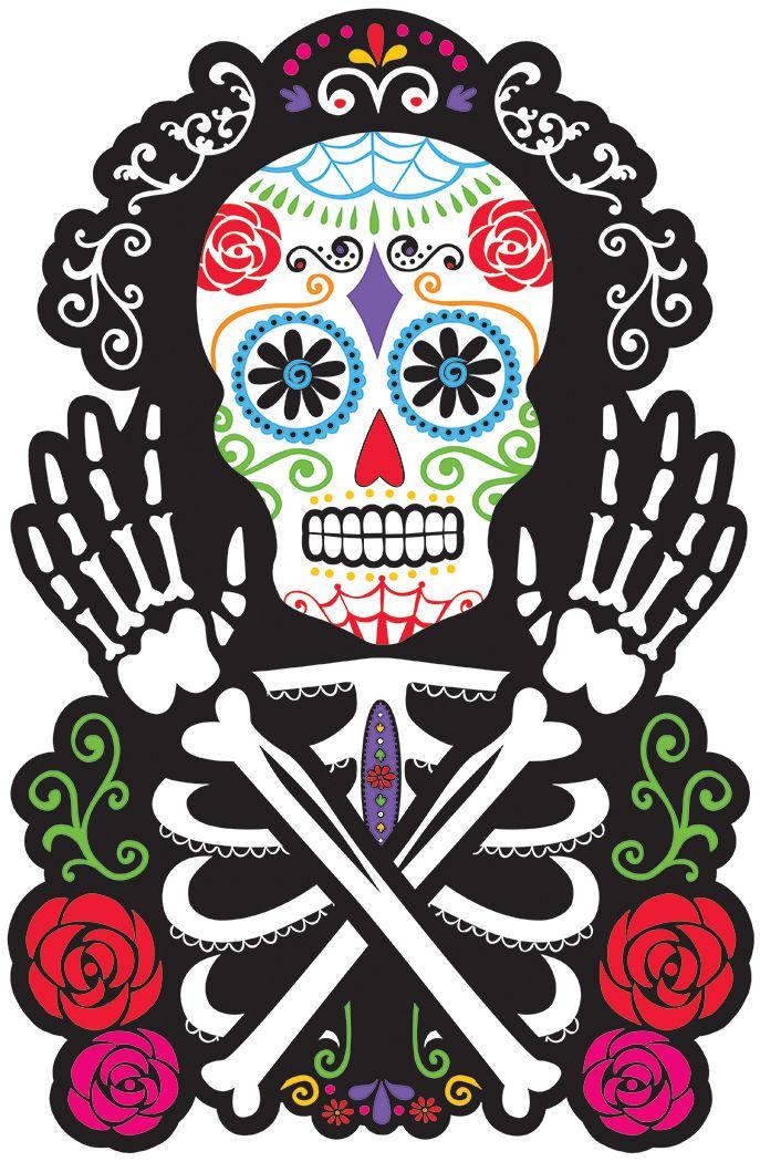 Decoración Mural Calavera Dia De Los Muertos Pinterest Day Of