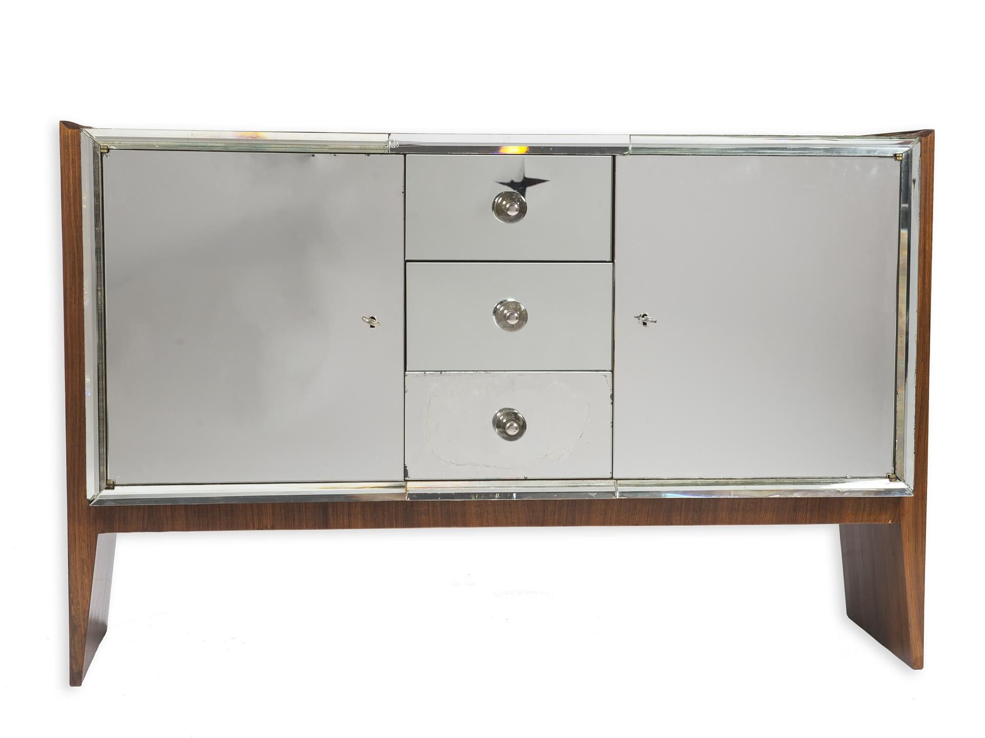 Lot : Jean PASCAUD(1903-1996)  - attribué à Enfilade en palissandre de forme[...]   Dans la vente Arts Décoratifs, Design à Guillaumot-Richard