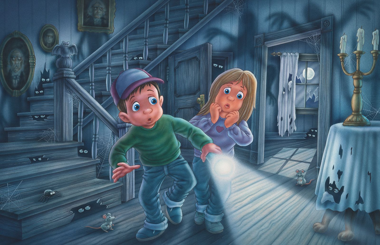 Watercolor books for kids -  Haunted House Phil Wilson Illustration From Children S Book Watercolor Using Airbrush