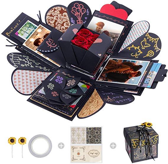 MOMSIV Creative Explosion Box, Love Memory DIY