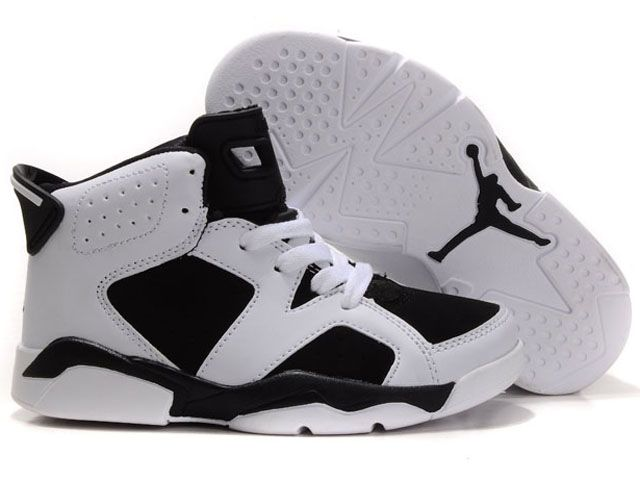 jordan black and white shoes