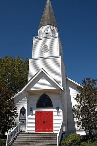 Red Door That Always Means Welcome Church Steeple Church Architecture Country Church
