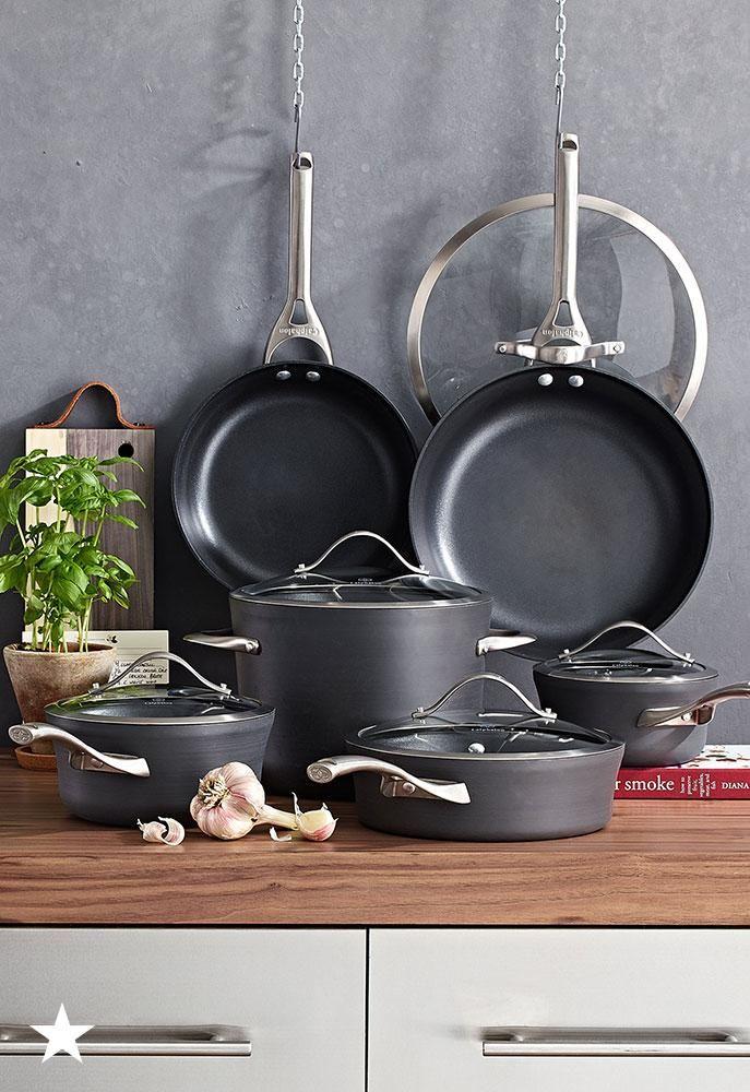 Contemporary Nonstick 11-Pc. Cookware Set | Kitchen ...