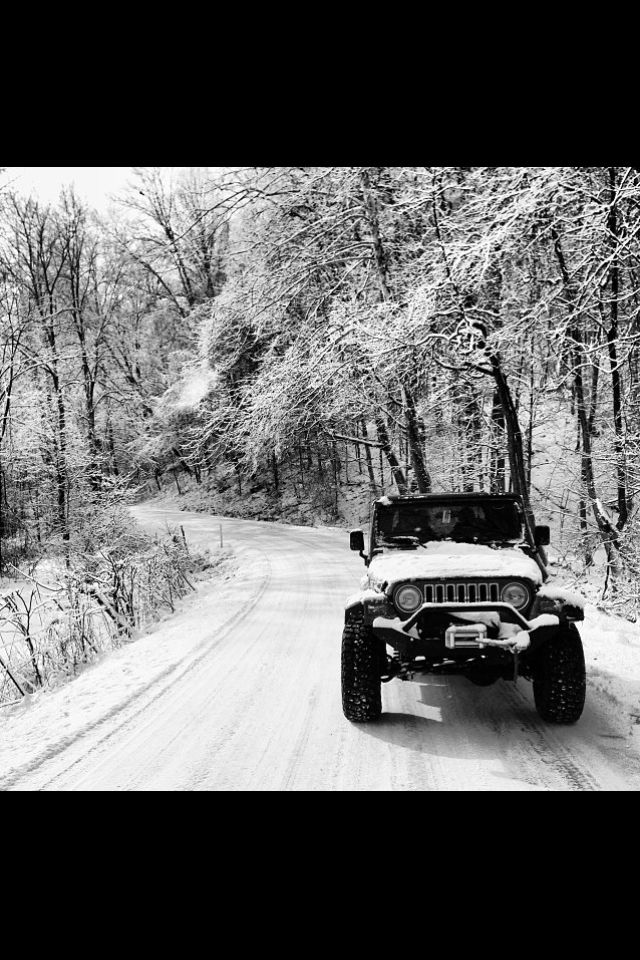 This Texas boy would brave the snow and ice in a Jeep ...
