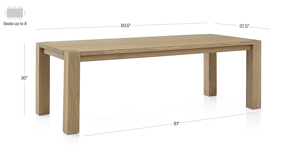 Big Sur Smoke 90 5 Dining Table Dimensions Dining Table Dining Crate And Barrel