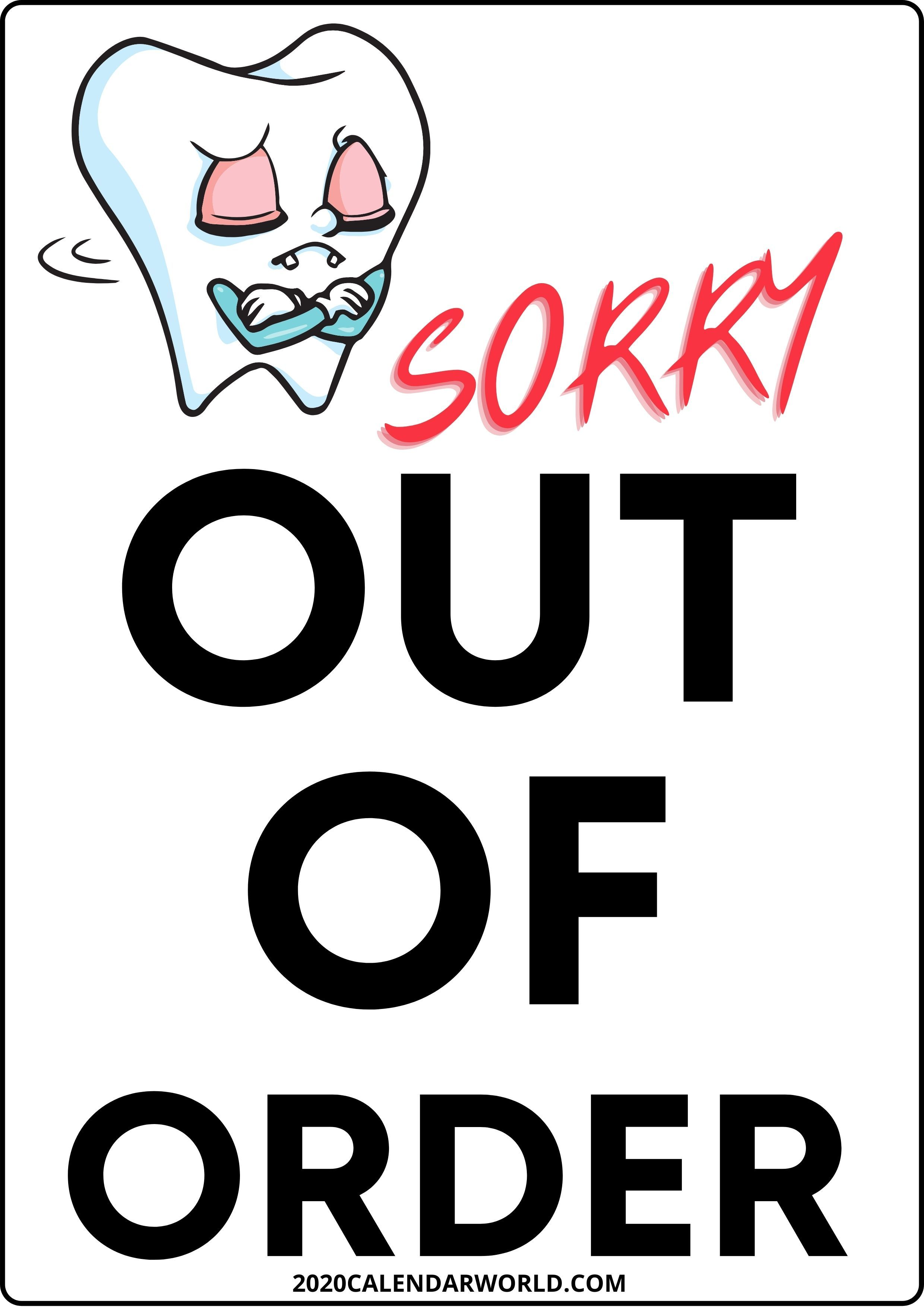 Funny Out Of Stock Sign Template Free Download In 2020 Sign Templates Out Of Order Sign Templates