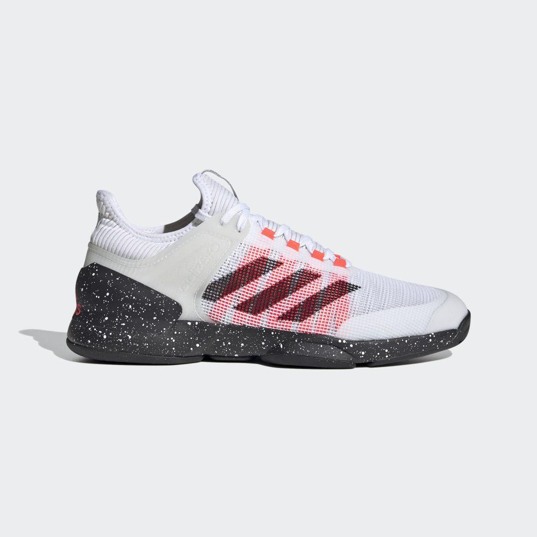 Adidas Ubersonic 2 Hard Court Tennis Shoes White Adidas Us Tennis Shoes Mesh Shoes Mens Tennis Shoes