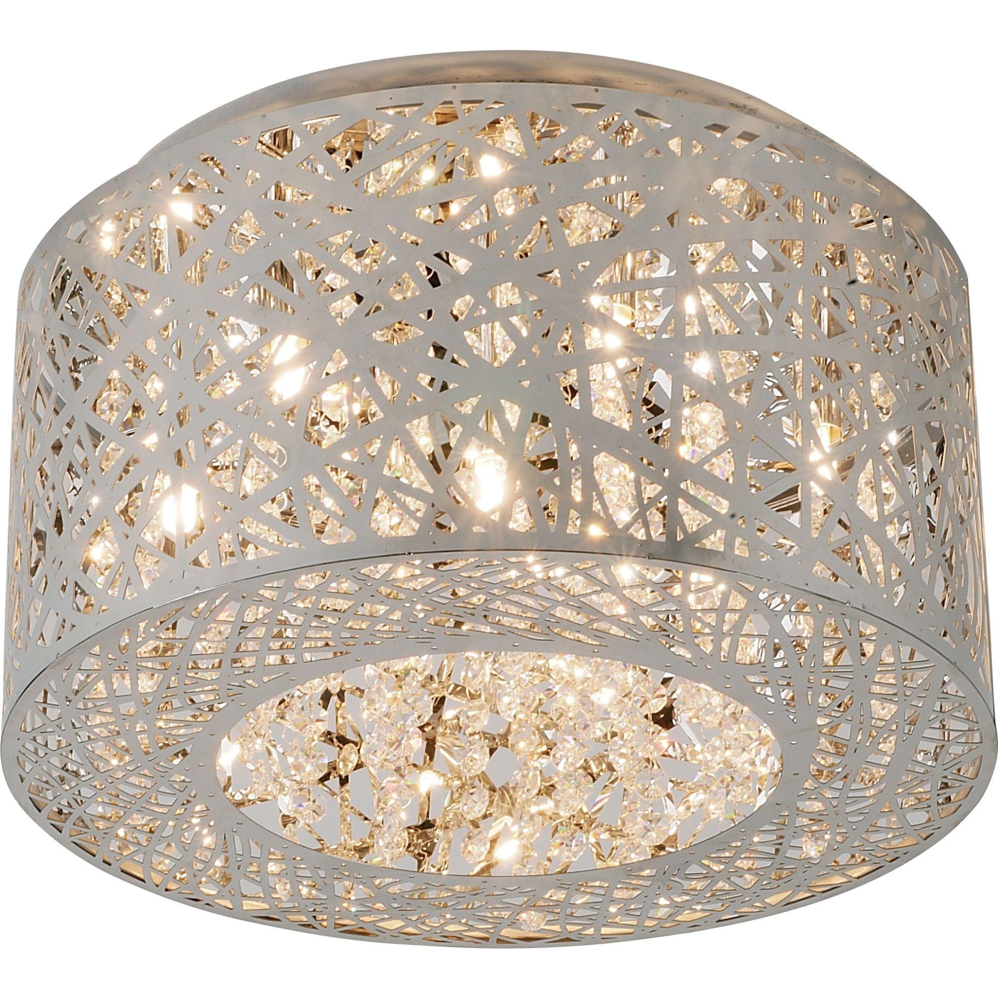 Modern Take On The Traditional Chandelier Flush Mount Ceiling Lights Flush Ceiling Lights Crystal Ceiling Light