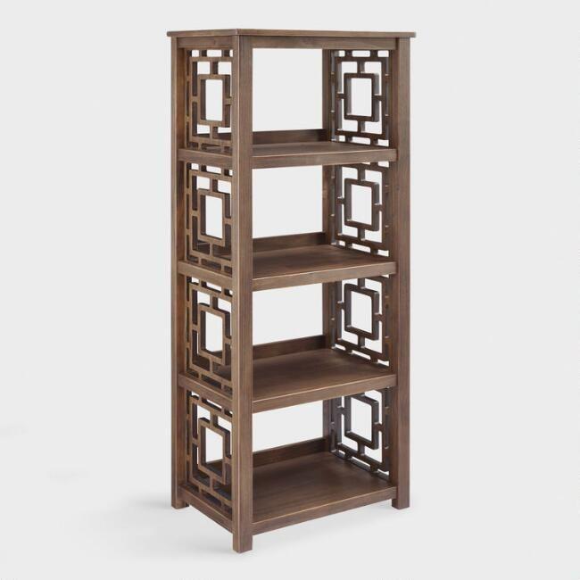 Walnut Brown Wood Jefferson Bookshelf By World Market Bookcase