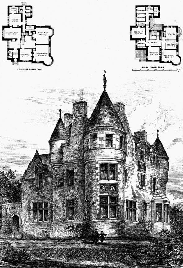 1872 House Colearn Perthshire Scotland Architecture Of Scotland Archiseek Com Castle Floor Plan Victorian House Plans How To Plan