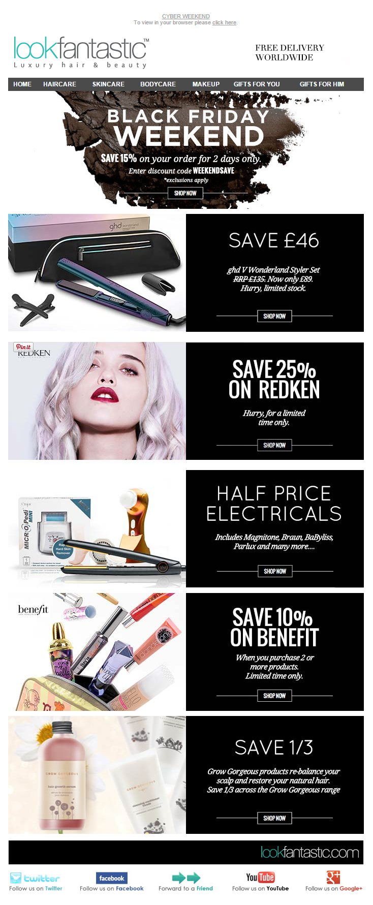 Black Friday Email Marketing Inspiration 2014 Look Fantastic