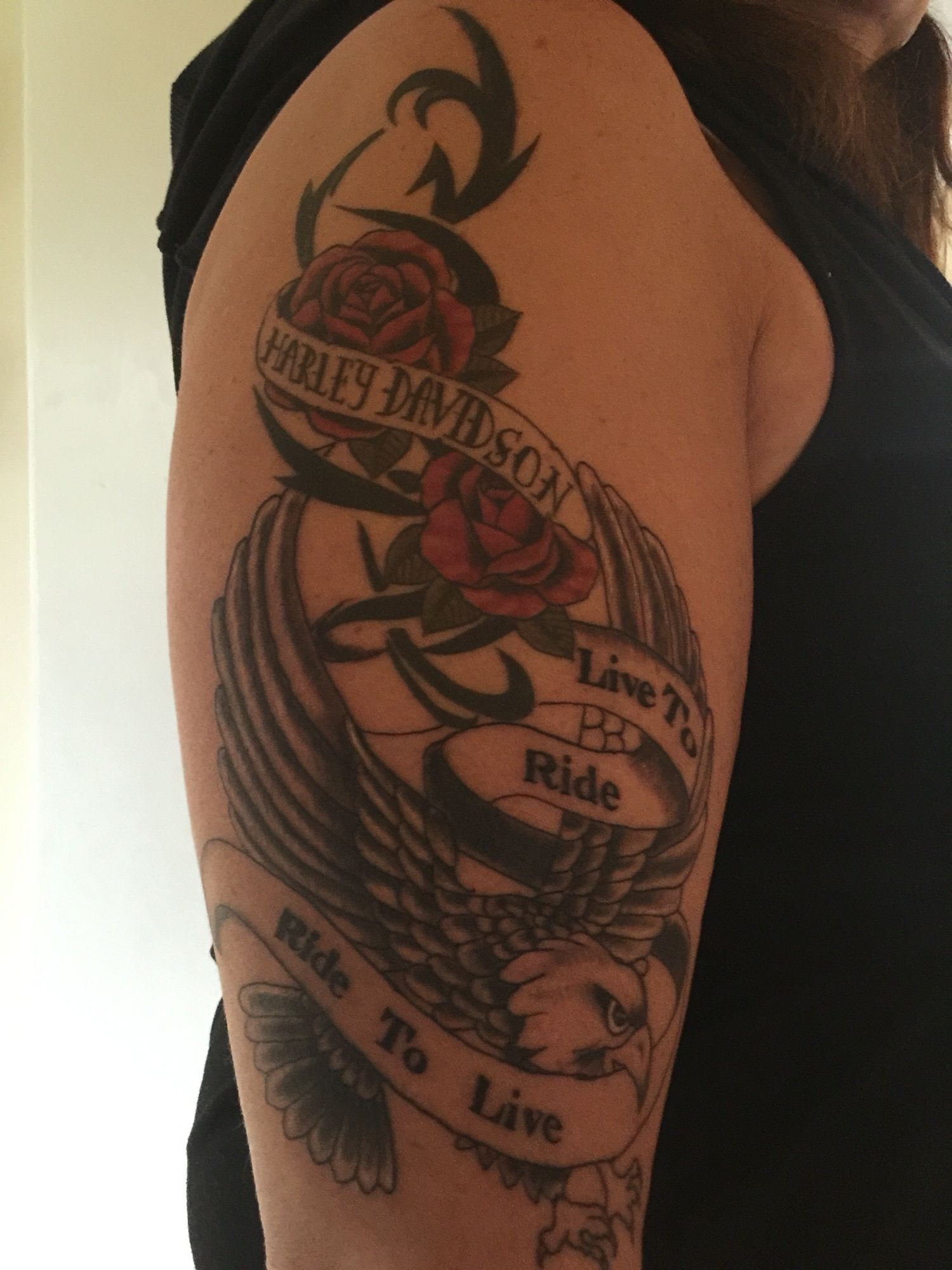 Harley Davidson Tattoo Live To Ride Ride To Live Harley Ink