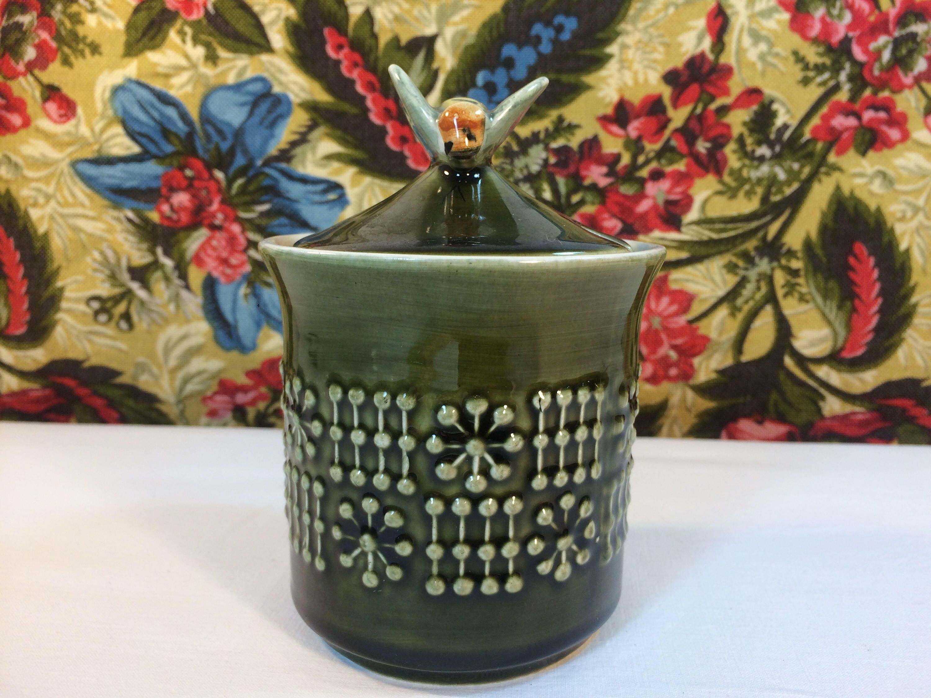 A personal favourite from my Etsy shop https://www.etsy.com/uk/listing/520482908/vintage-retro-secia-honey-pot-bee-on-lid