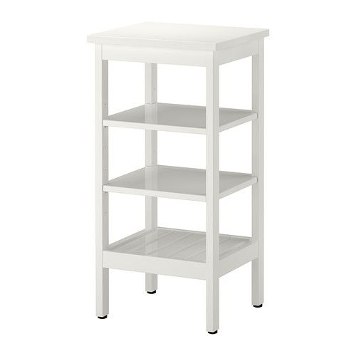 Hemnes Shelving Unit Ikea Water Resistant Suitable For Use In High Humidity Areas The Open Shelves Give An Ikea Shelf Unit Ikea Bathroom Storage Ikea Shelves