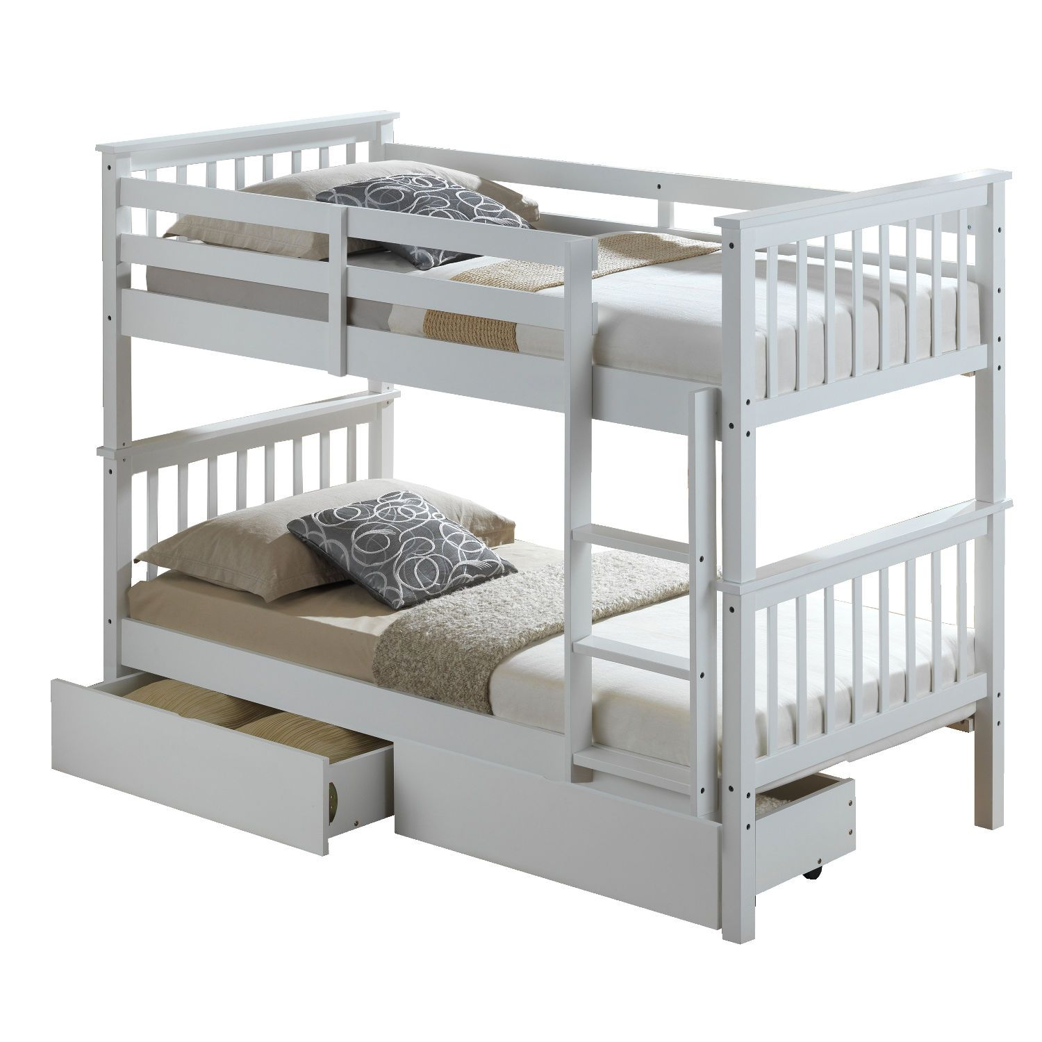 Artisan White Bunk Bed Next Day Select Day Delivery Witterings