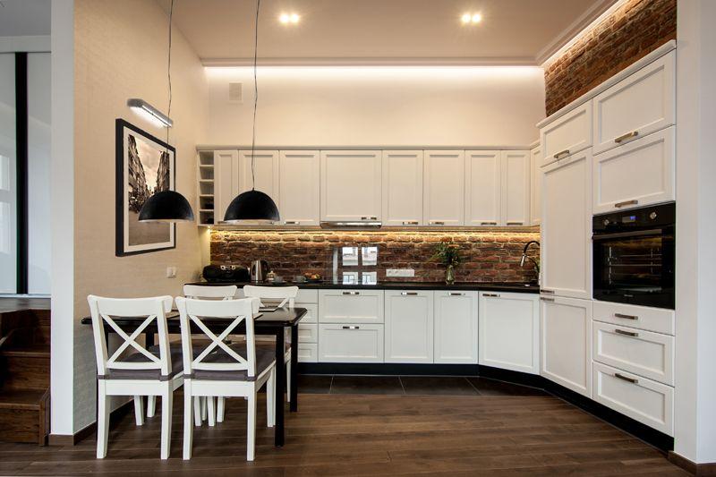Dla M całość OK, ściana z cegły OK, krzesła NIE  Pomysły   -> Mala Kuchnia Aranżacje Wnetrz