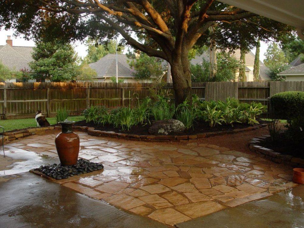backyard landscaping centered