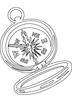 Compass Coloring Page With Images Rose Coloring Pages