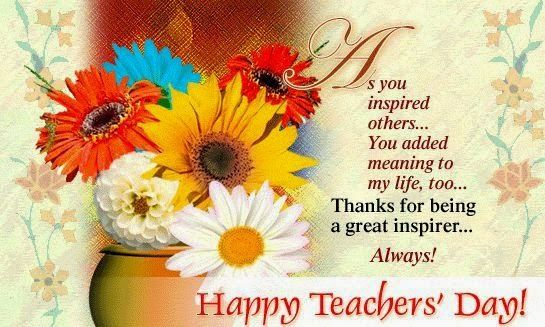 Beautiful Heart Touching Lines Wishes Messages For Happy Teachers Day 2016 5th September Ha Teachers Day Card Teachers Day Wishes Happy Teachers Day Message