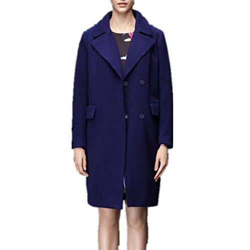 d4eb077ae321b THIN MORE Womens Plus Size Big and Tall Winter Double Breasted Above Knee  Length V Neck Wool Pea Coat Jacket with Pockets 22W Navy -- Visit the image  link ...