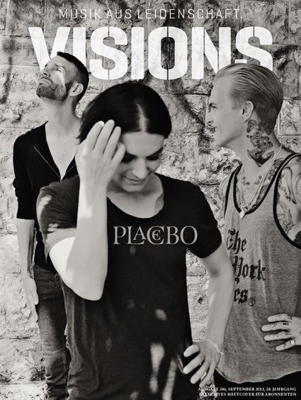 Placebo  Visions Magazine / Subscription cover/Aug 2013