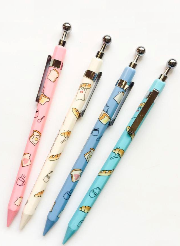Cute mechanical pencil decorated with illustrations of pastry ecf592f5878c