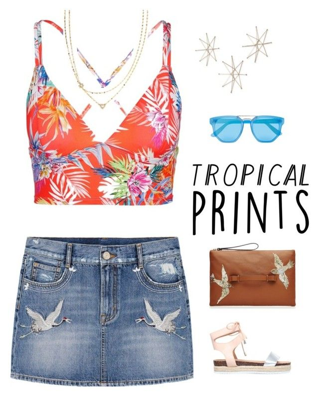 """Tropical Star"" by anetacerna ❤ liked on Polyvore featuring Vitamin A, Uttermost, MANGO, Miss KG, Le Specs, RED Valentino and Lana"