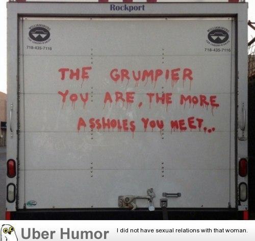 On being a grump